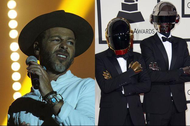 """Christophe Maé ou Daft Punk, """"Il est où le bonheur"""" ou """"Get Lucky"""" ?"""