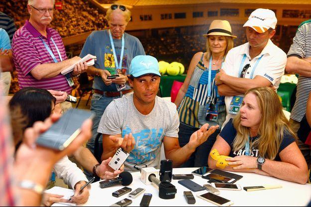 Rafael Nadal à la conférence de presse à Indian Welles.