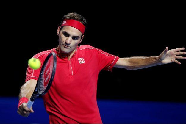 Roger Federer lors du tournoi de Bâle.