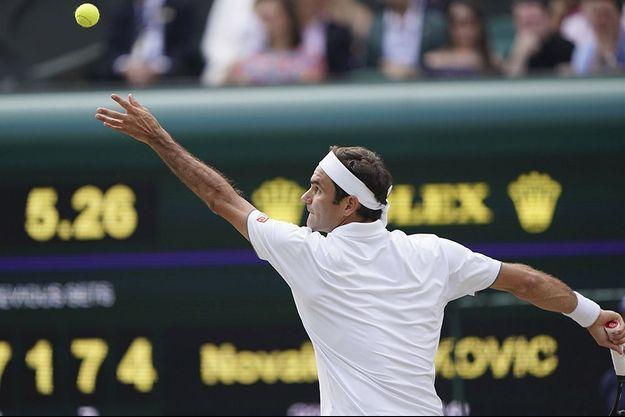 Roger Federer à Wimbledon.