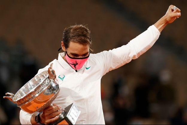 Rafael Nadal après sa victoire à Roland-Garros, dimanche.