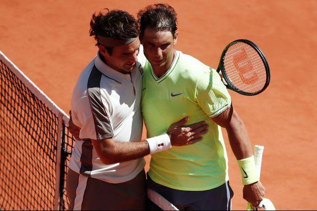 Roger Federer et Rafael Nadal.