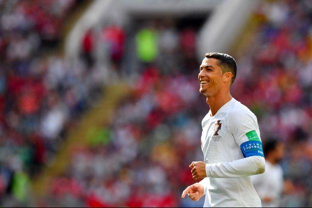 Cristiano Ronaldo lors de Portugal-Maroc à Moscou, le 20 juin.