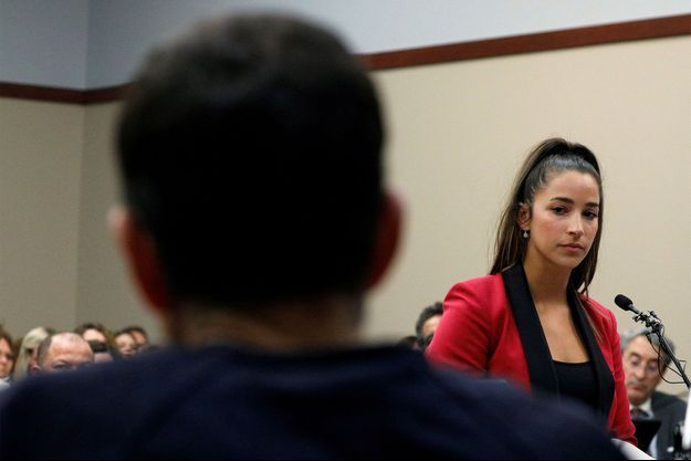 Aly Raisman a témoigné la semaine dernière au cours du procès du docteur Nassar.