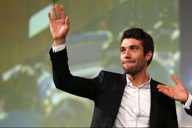 Thibaut Pinot, ici en octobre 2019 lors de la conférence de presse pour le Tour de France 2020.