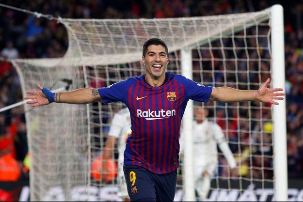 Luis Suarez a inscrit un triplé.
