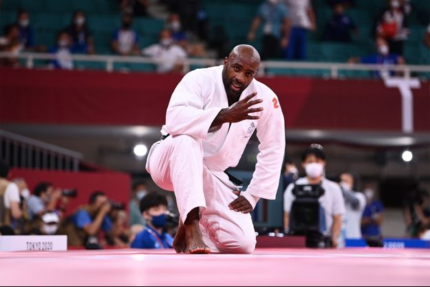 Teddy Riner a remporté le bronze vendredi en judo.