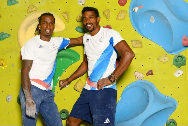 Mickaël (à gauche) et Bassa Mawem.