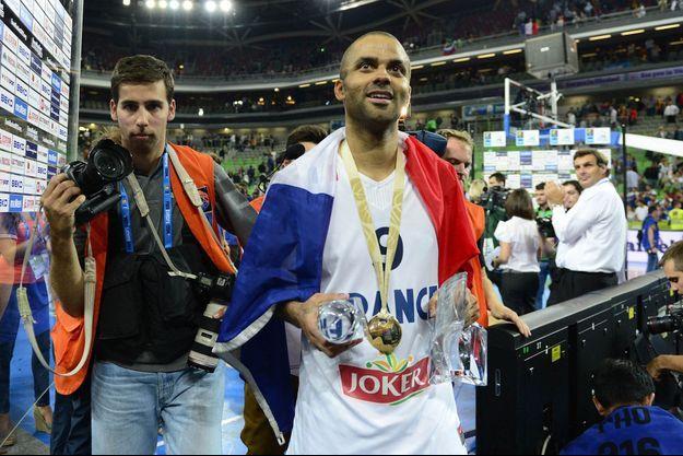 Tony Parker a été sacré champion d'Europe en 2013 avec l'équipe de France
