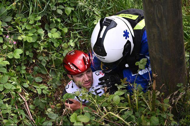 Marc Hirschi est tombé lors de la première étape.
