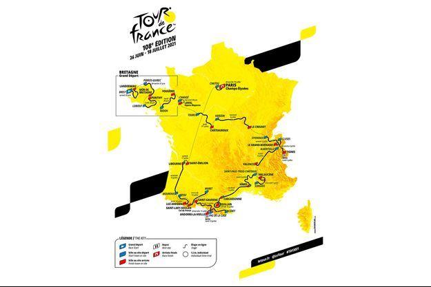 La carte du Tour de France 2021