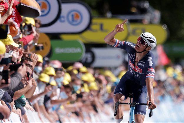 Mathieu Van der Poel a remporté la deuxième étape.