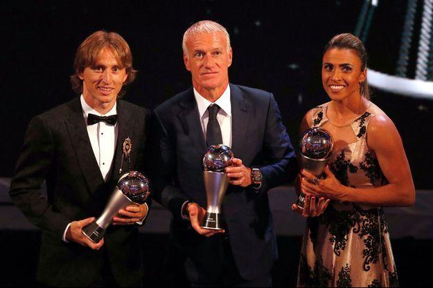 Luka Modric, Didier Deschamps et Marta