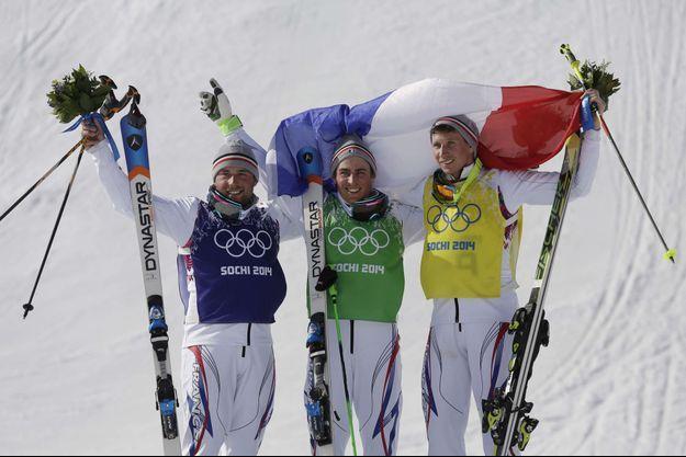 Le podium 100% français: Arnaud Bovolenta, Jean-Frédéric Chapuis et Jonathan Midol