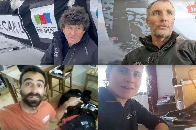 Jean Le Cam, Jérémie Beyou, Alan Roura et Clarisse Crémer