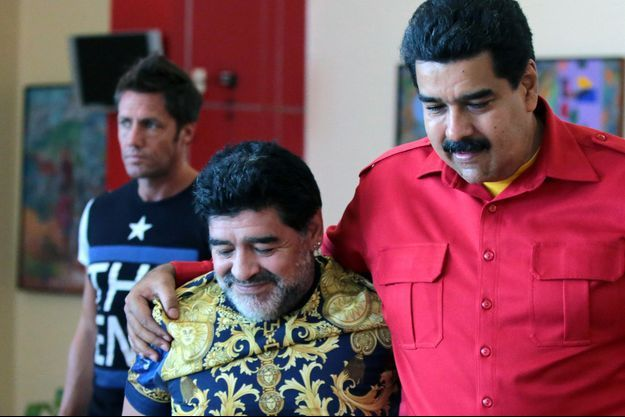 Diego Maradona et le président vénézuélien Nicolas Maduro en 2014.
