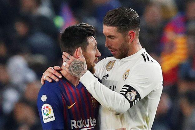 Lionel Messi et Sergio Ramos le 6 février 2019.