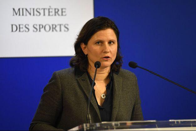 La ministre des Sports Roxana Maracineanu lundi en conférence de presse.
