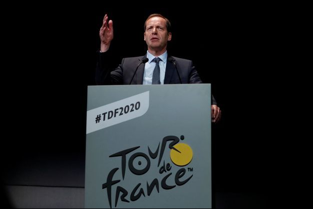 Le directeur de la Grande boucle Christian Prudhomme mardi lors de la présentation de l'édition 2020.