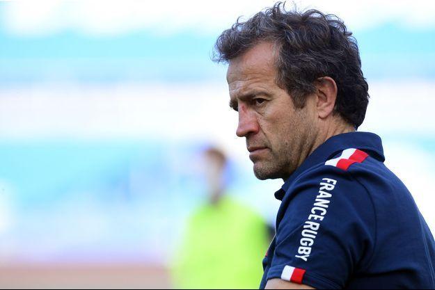 Fabien Galthié, sélectionneur du XV de France, avant le match Italie-France à Rome, le 6 février 2021.