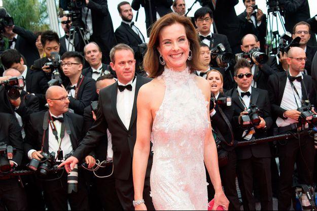 Carole Bouquet en robe Chanel, à l'ouverture du 67e Festival de Cannes.