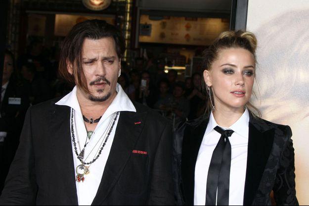 Amber Heard et Johnny Depp à Los Angeles en 2015