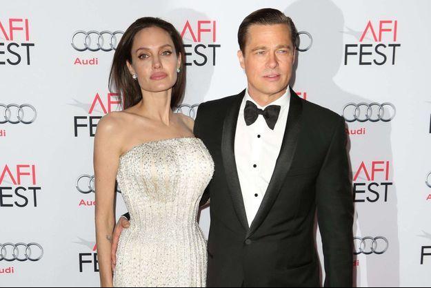 Brad Pitt et Angelina Jolie, le 5 novembre 2015