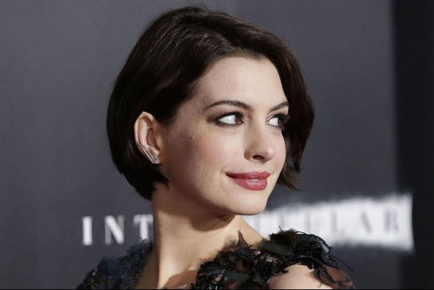 "Anne Hathaway à la première de ""Interstellar"" à New-York en 2014"