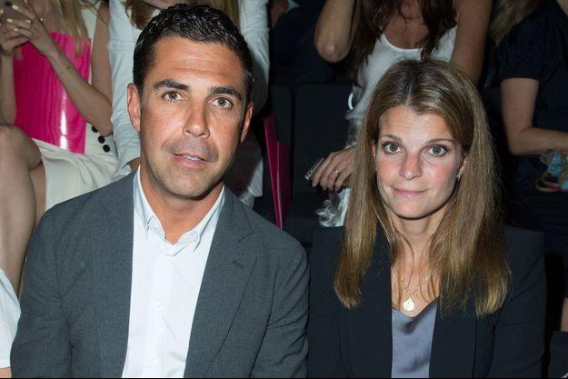 Athina Onassis et son mari Alvaro de Miranda Neto en 2015 à la Fashion Week de Paris