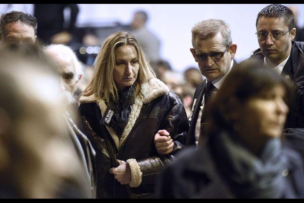 Ingrid Brinsolaro lors des obsèques de Charb, en janvier 2015.