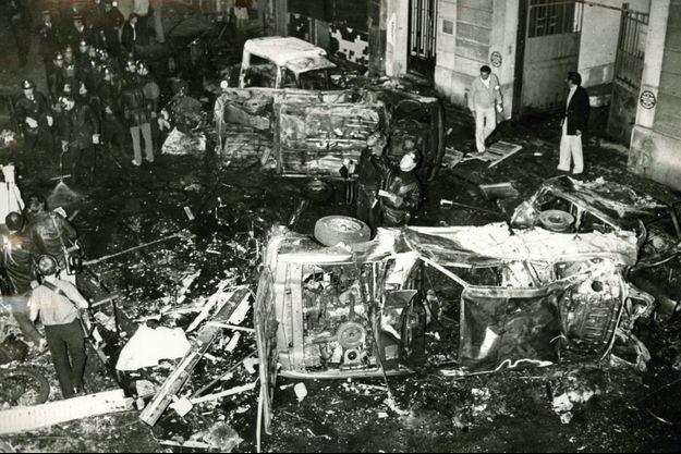 L'attentat de la rue Copernic à Paris.