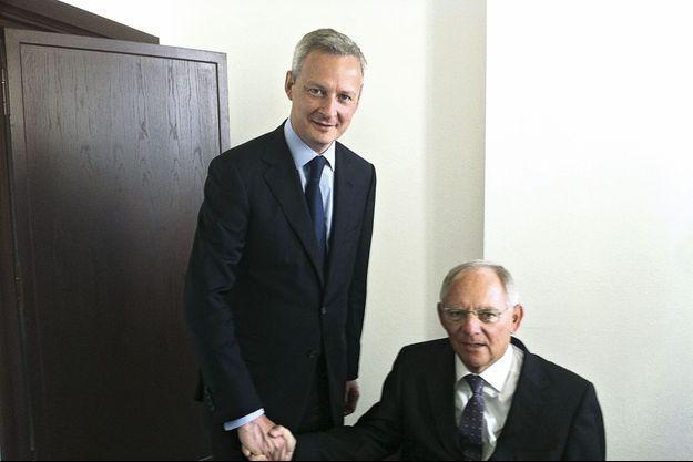 Le 2 juillet, avec Wolfgang Schäuble.