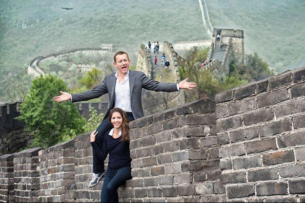Jeudi 17 avril, avec son épouse Yaël, sur la Grande Muraille, dont les fortifications courent sur 6 700 kilomètres.