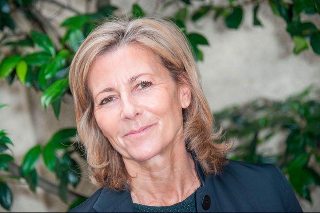 """Claire chazal à la conférence """"La flamme Marie-Claire"""" en 2015"""