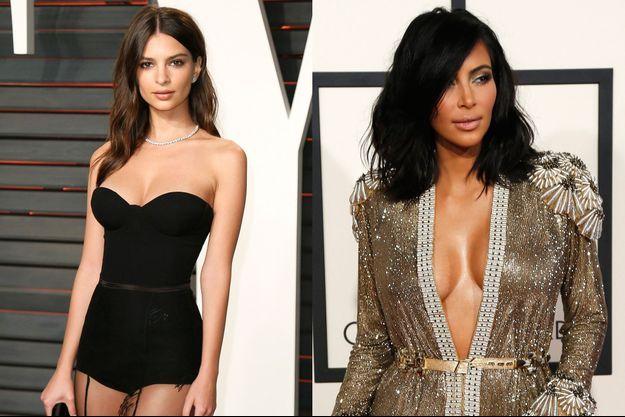 Emily Ratajkowski et Kim Kardashian
