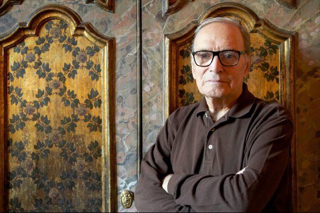 Ennio Morricone chez lui à Rome
