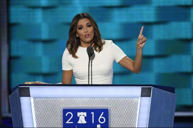 Eva Longoria à la convention démocrate, à Philadelphie