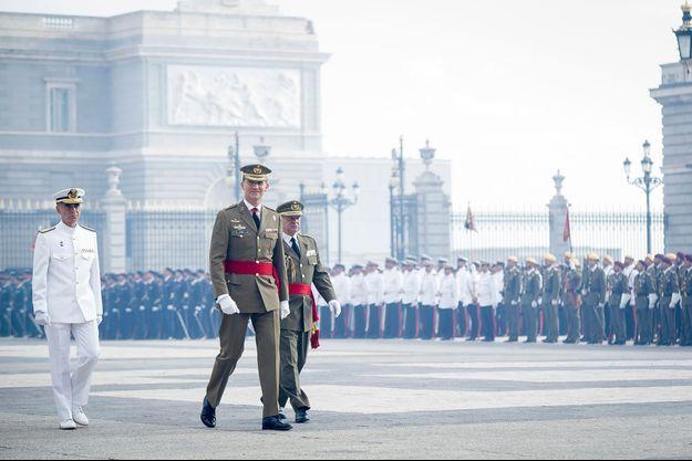 Felipe, le 25 juin 2014, lors de la cérémonie d'hommage de l'armée.