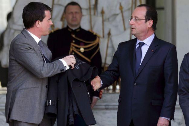 Manuel Valls et François Hollande le 23 avril à l'Elysée.