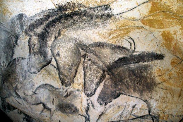 Les petits chevaux, image emblématique de la grotte ornée du Pont-d'Arc.