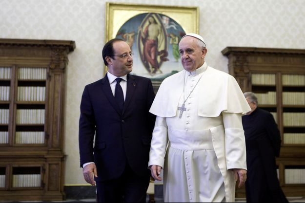 François Hollande et le pape François, le 24 janvier.