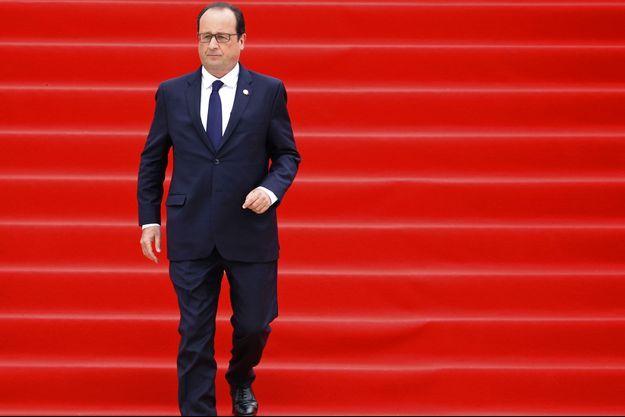 François Hollande, lundi à Liège.