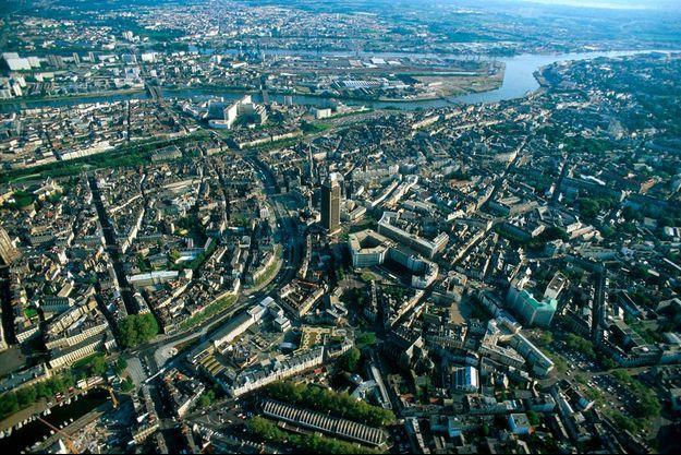 Vue aérienne de Nantes.