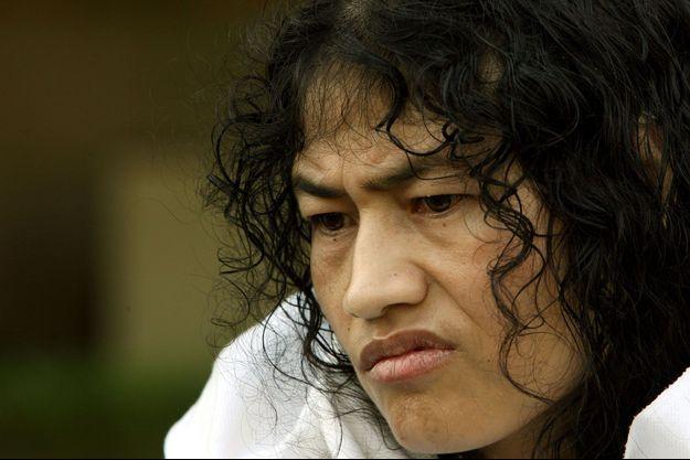 Irom Sharmila à New Delhi en 2006.