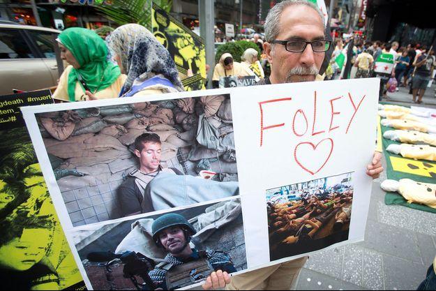 Manifestation en hommage à James Foley à New York le 22 août.