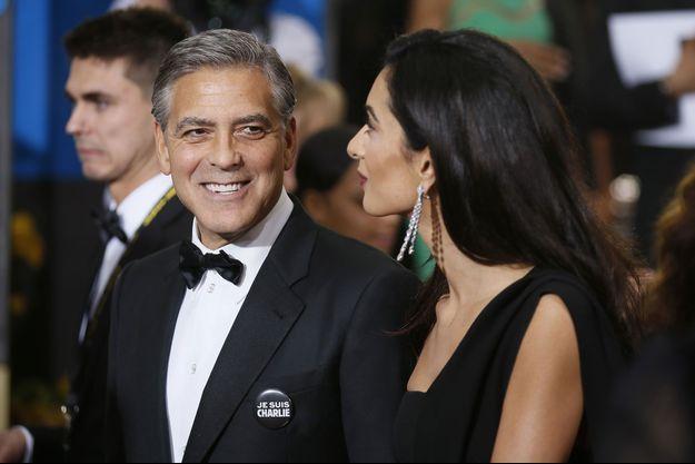 George Clooney et son épouse Amal Clooney à la cérémonie des Golden Globe Awards