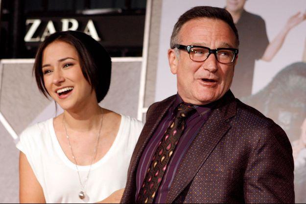 """L'acteur Robin Williams et sa fille Zelda à la première de """"Old Dogs"""" à Hollywood en 2009."""