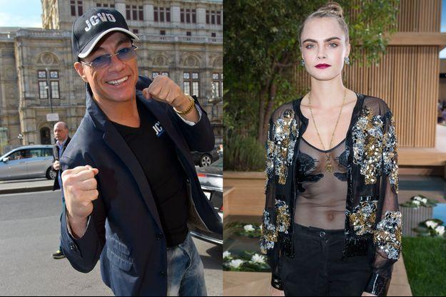 Jean-Claude Van Damme & Cara Delvingne