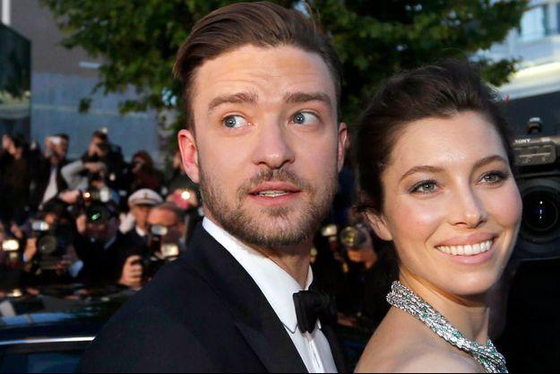 """Justin Timberlake et Jessica Biel à la projection du film """"Inside Llewyn Davis"""" au 66ème Festival de Cannes en 2013."""