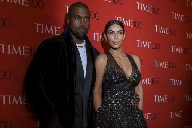 Kim Kardahsian et Kayne West, 22 avril 2015.